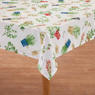 Potted Herbs Tablecloth by OakRidge® Kitchen Gallery