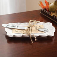 Thankful Butter Dish and Knife Gift Set