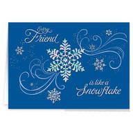 Personalized Snowflake Christmas Cards - Set of 20