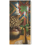 Personalized Candlelight Christmas Card Set of 20