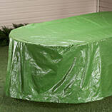 """Oval Patio Table Cover - 108""""L x 30""""H x 84""""W"""