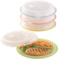 Divided Plates And Food Storage Containers - Set Of 4