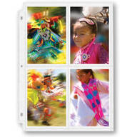 Double Weight 4-Pocket Pages For 3.5 x 5 Photos - Set Of 10