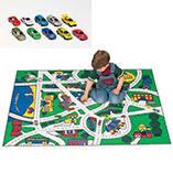 Toy Car Floor Mat and Car Set