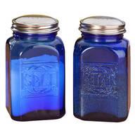 Cobalt Blue Depression Style Glass Salt & Pepper Shakers