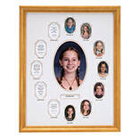 School Collage Wood Frame
