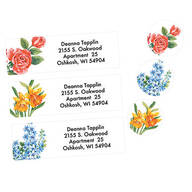 Floral Address Labels & Seals - 250