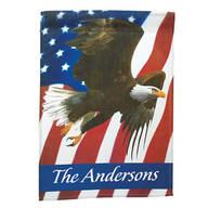 Personalized Patriotic Eagle Garden Flag