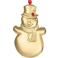 Personalized Snowman Birthstone Ornament