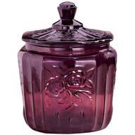Amethyst Depression Style Glass Biscuit Jar