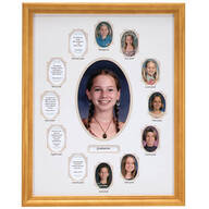 School Years Collage Frame - Beige