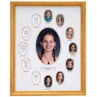 School Years Collage Frame - Beige