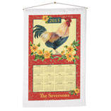 Personalized Rooster Calendar Towel