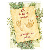 Personalized Christmas Certificate Card Set of 20