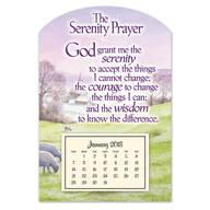 Mini Serenity Prayer Magnet Calendar