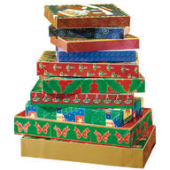 Christmas Gift Boxes - Set of 10