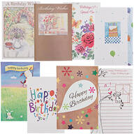 Assorted Birthday Cards - Set of 24