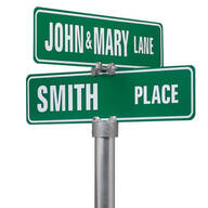 Personalized One Sided Street Sign