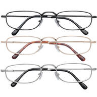 Spring Hinge Reading Glasses - Set of 3
