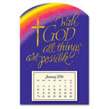 Mini Magnetic Calendar With God