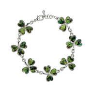 Paua Shamrock Bracelet