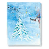 Winter Sunset Non-Personalized Card Set of 20