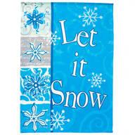 Let It Snow Winter Garden Flag