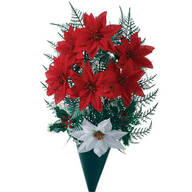 Silk Poinsettia Arrangements