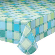 Seaside Plaid Table Cover