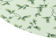 Vines and Holly Leaves Elasticized Vinyl Table Cover