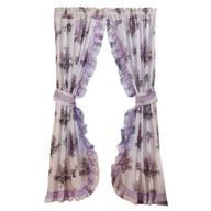 Lilac Ruffle Curtains