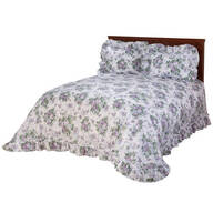 Ribbons and Roses Plisse Bedding