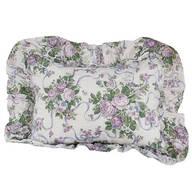 Ribbons & Roses Floral Plisse Pillow Shams