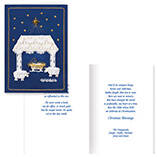 Satin Nativity Christian Christmas Card Set of 20