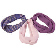 Pansy Floral Neck Cowls Set of 3