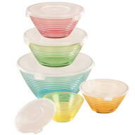 Pastel Glass Bowls Set of 5
