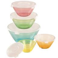 Pastel Glass Bowls Set of 5