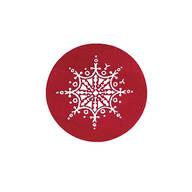 Red Snowflake Seal - Set of 200