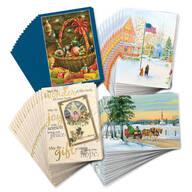 Christmas Nostalgia Christmas Cards Set of 80