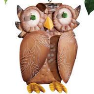 Weathered Metal Owl Outdoor Decor