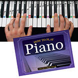 """How to Play Piano"" Book, Flashcards and Keyboard Clings"