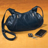 Blue Patch Leather Handbag