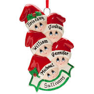 Personalized Santa Hat Kids Ornament