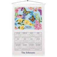 Personalized Butterfly Garden Calendar Towel