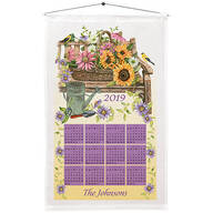 Personalized Finch and Sunflowers Calendar Towel