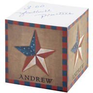 Personalized Barn star self-stick note cube