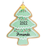 Personalized Christmas Tree Christmas Cookie Ornament