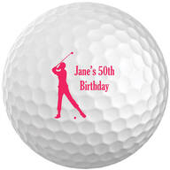Personalized Women's Golf Balls - Set of 6