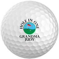 Personalized Hole In One Golf Balls - Set of 6