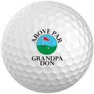 Personalized Above Par Golf Balls - Set of 6